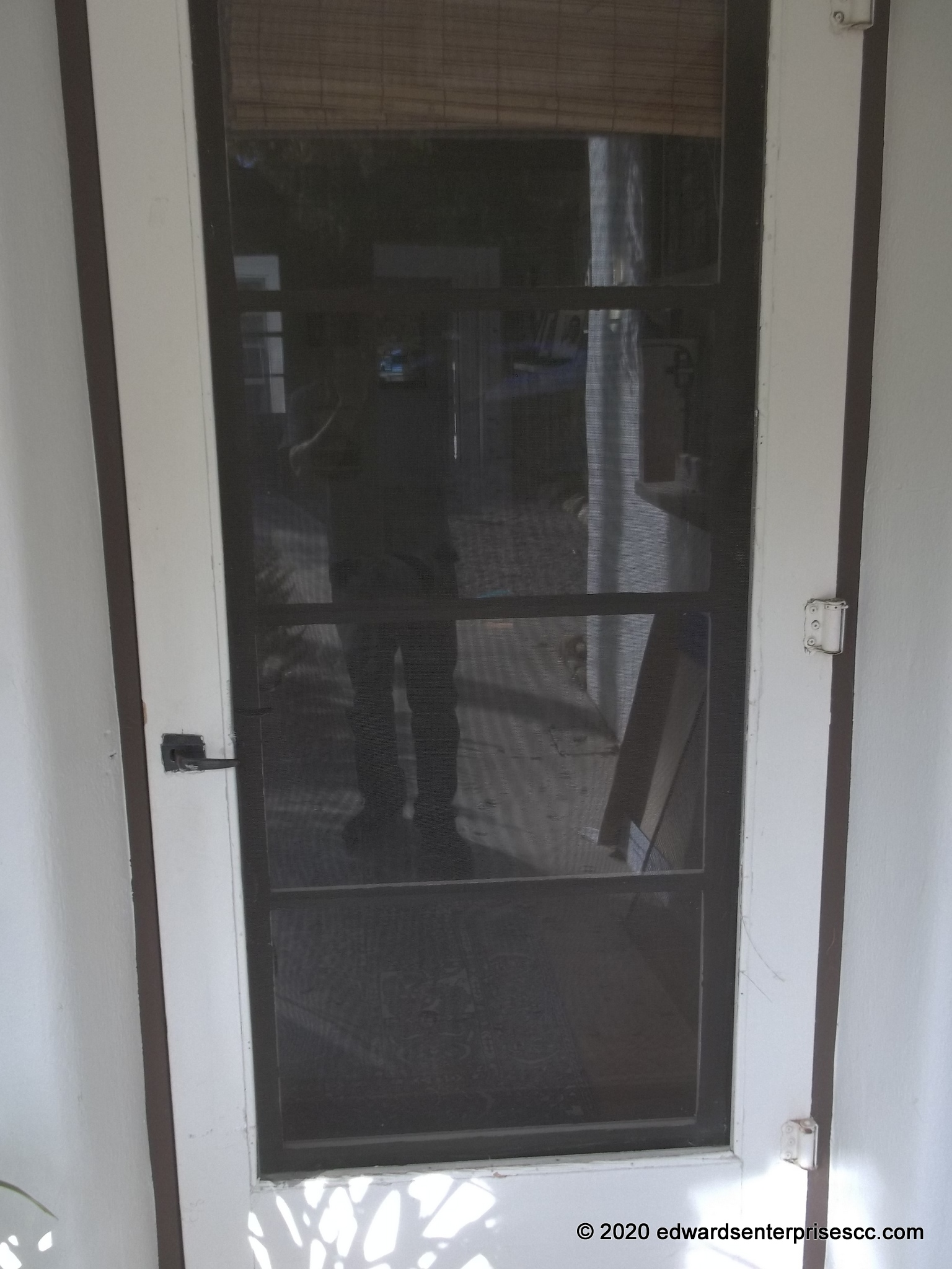 Hinged screen door